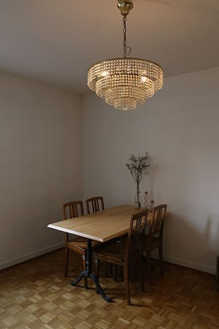 dining table for guests