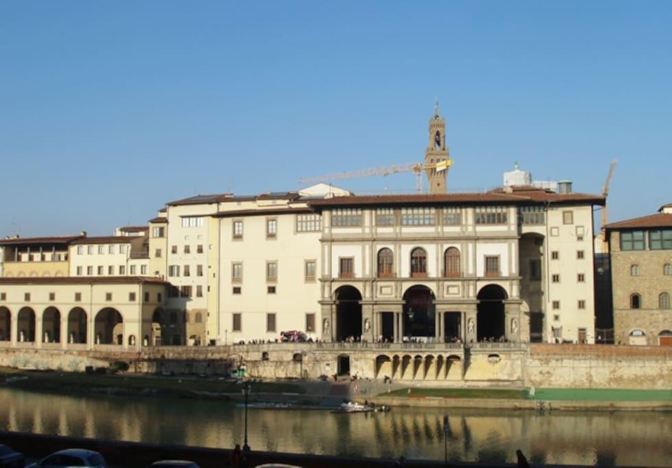 Vista Arno e Uffizi