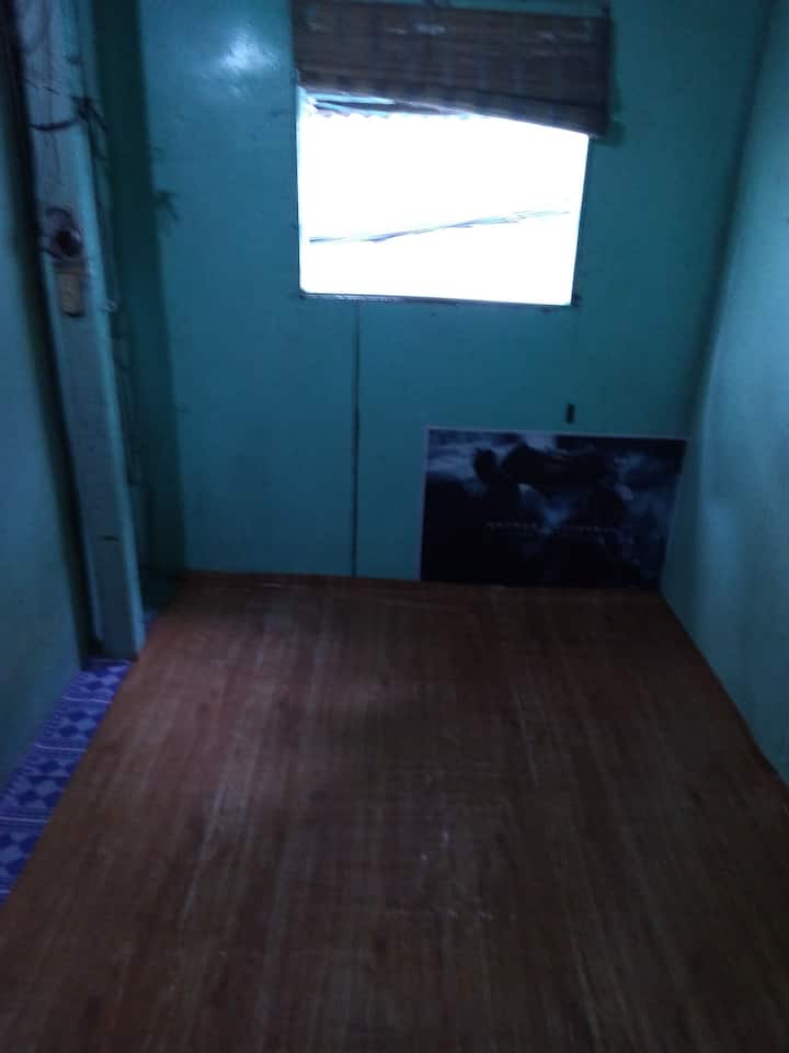 Its a wood small room.have sink but common c.r