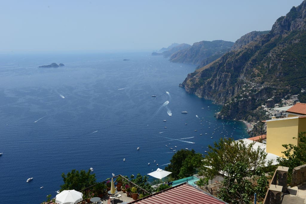 The best view of Positano from my terrace