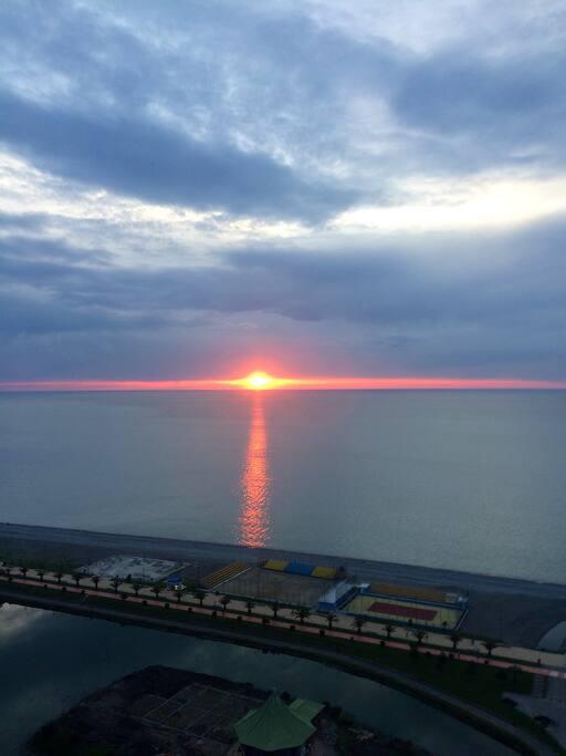 Закат. Вид с балкона