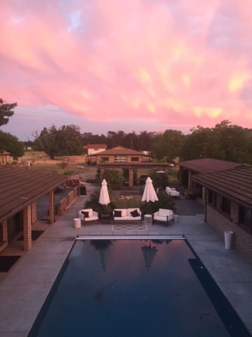 Summer Solstice. New pool shown.  the sky can be beautiful in Sonoma!