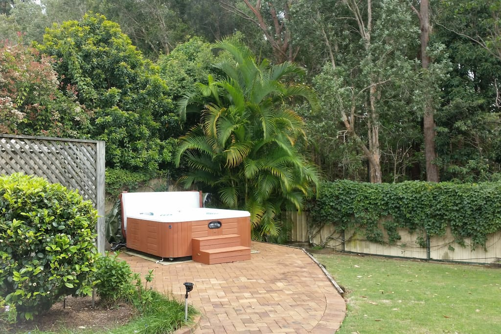 Our fabulous spa is really private as you can see!