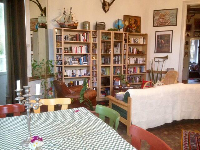 Grand appartement insolite, avec jardin