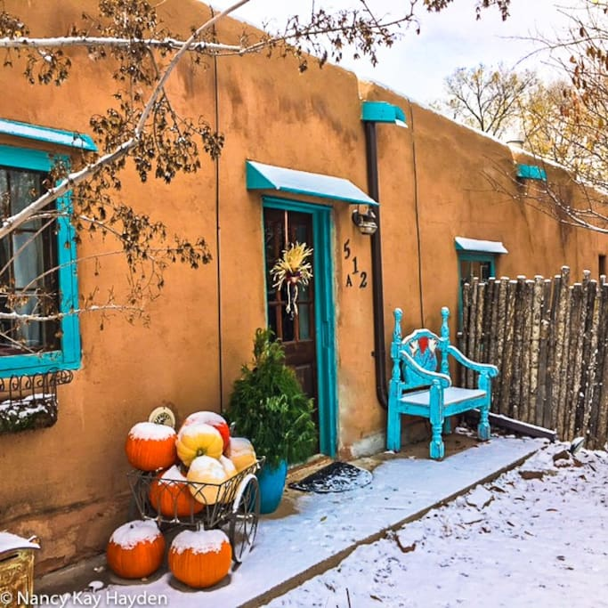 Winter welcome to Historic Abeyta Casa - your home away from home