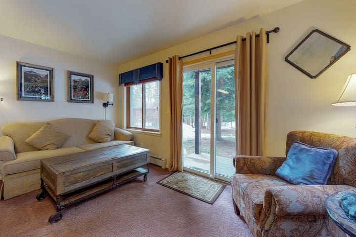 Dog-friendly ski-in/ski-out condo with shared hot tub in prime location!