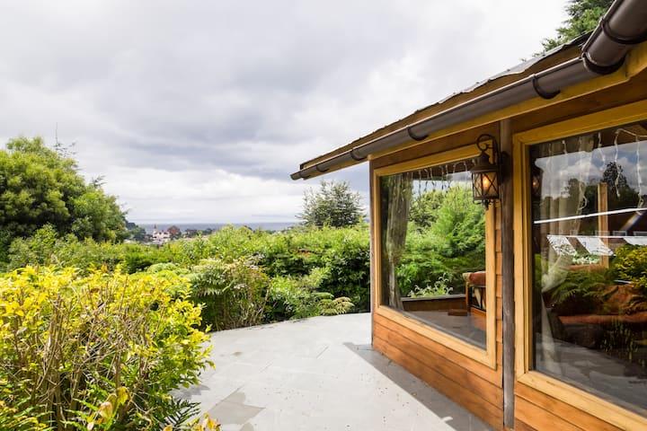 Comoda y muy espaciosa cabana con vista