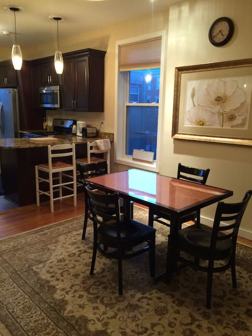 Shared Kitchen, dining room with TV