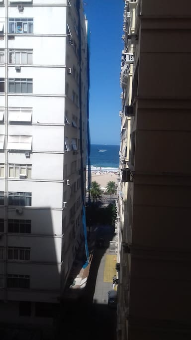 Vista frontal para o mar