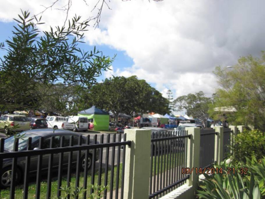 The Sunday Markets across the Road.