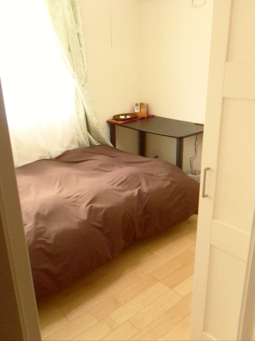 The room is equipped with a desk, closet, A/C, and Ethernet socket. You will have access to our home wi-fi as well.