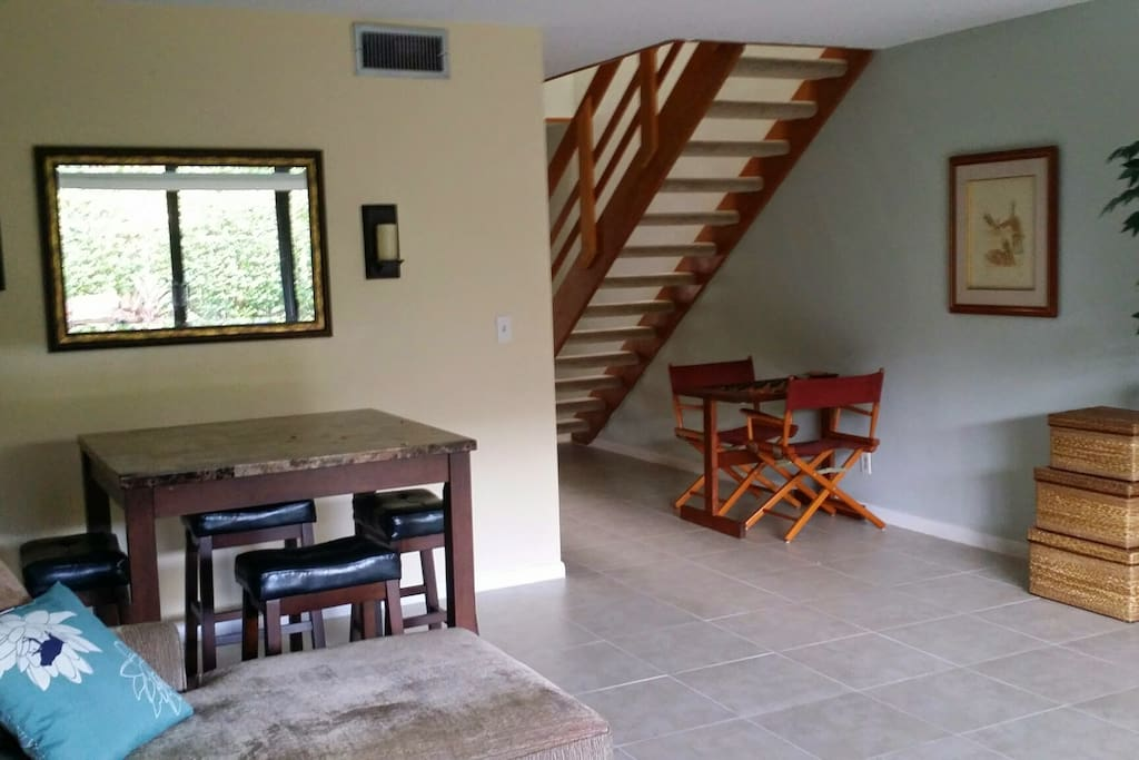 Small dinette to the right when entering the main living/entertaining area.