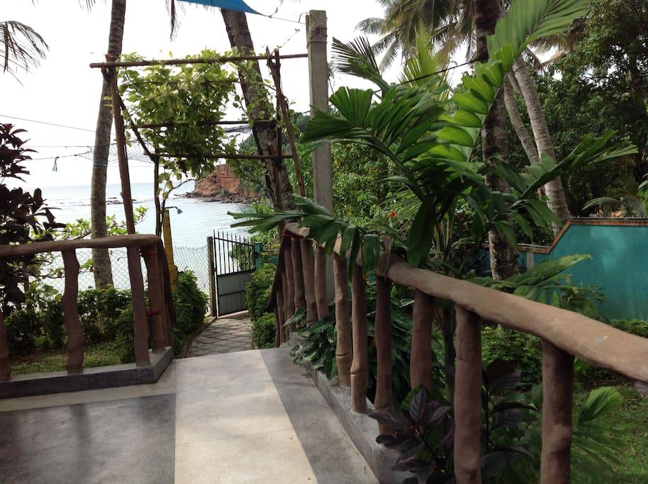 Sri Lanka   Weligama         Ayubowan-house Vue sur mer depuis le salon