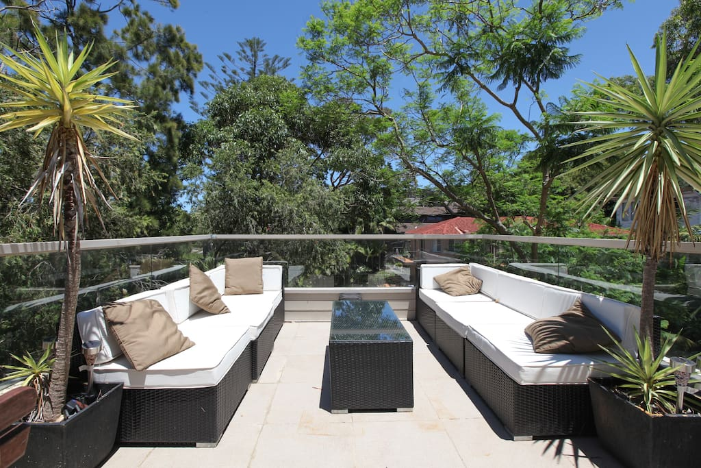 Outdoor living on the terrace