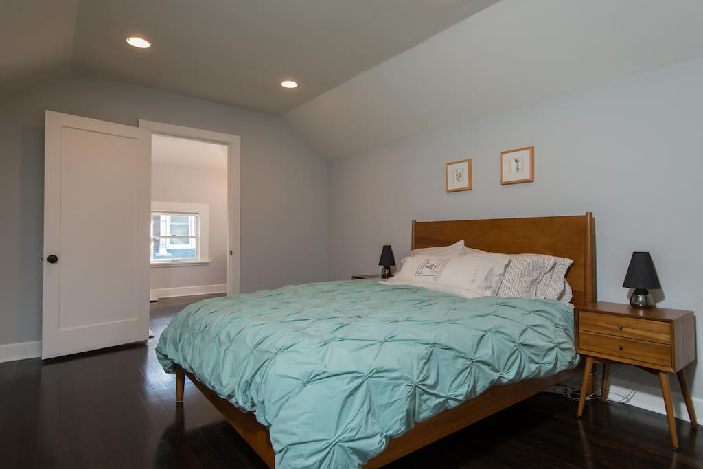 The master bedroom is located on second floor and has a private bathroom and sitting area