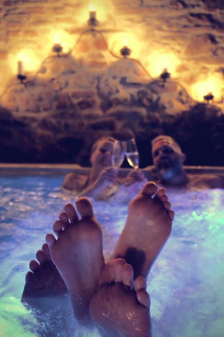 hot tub in the lodge