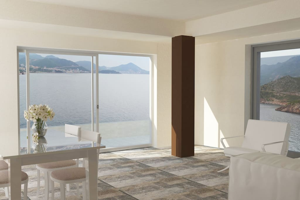 This fine apartment rental is a great choice for a vacation, recommended for families or couples, who provide a high standard and vacation and privacy. In the spacious living area with natural light and double glazing, you will enjoy the view of the sea that will not leave you indifferent.
