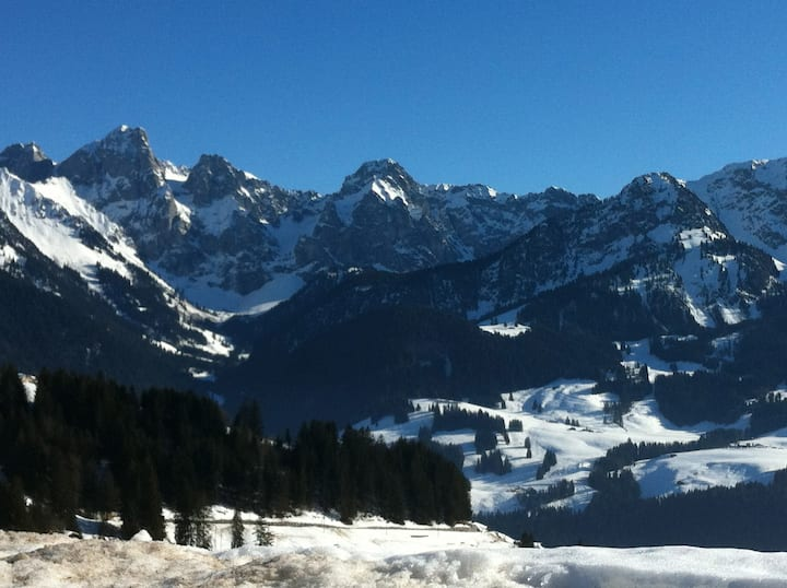 Flat for holidays in the Swiss Alps