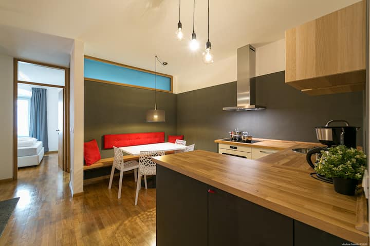 Desigapartment in the old Town of Merano