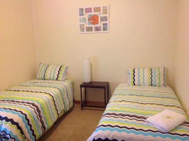 Bedroom #3 - 2x single beds