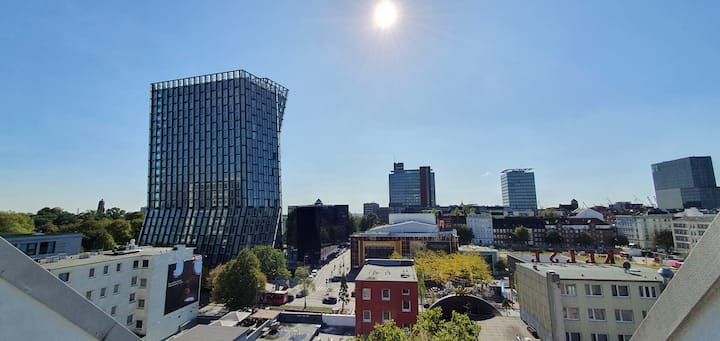 Rooftop Penthouse St. Pauli-quiet, sunny, central!