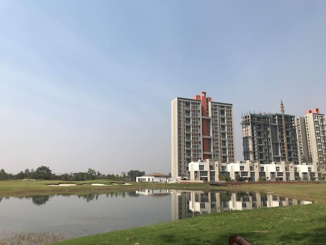 Lake inside the complex premises