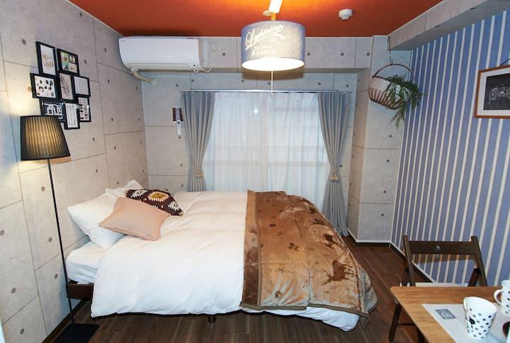 203#JR天王寺徒歩3分☆USJ/京都・ 奈良・神戸・難波アクセス便利