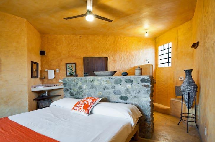 Casa Cielo master room shower at the back