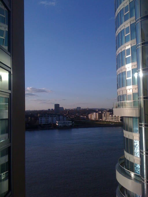 River Thames view from balcony.