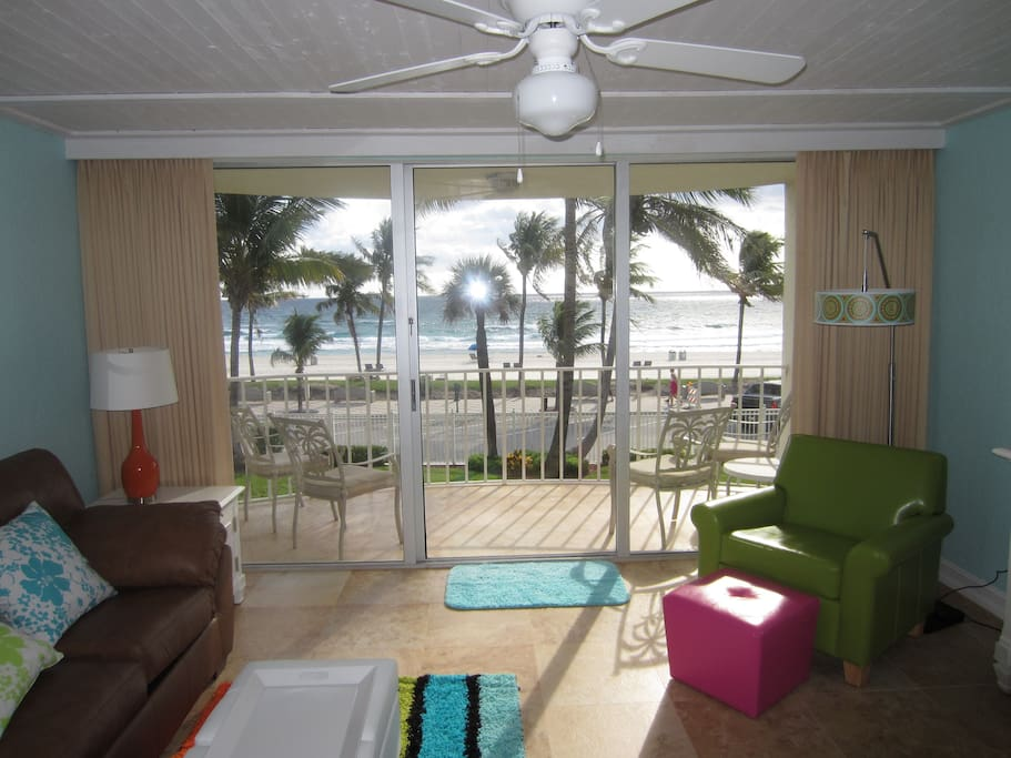 Gorgeous Ocean View from Living/Dining Area