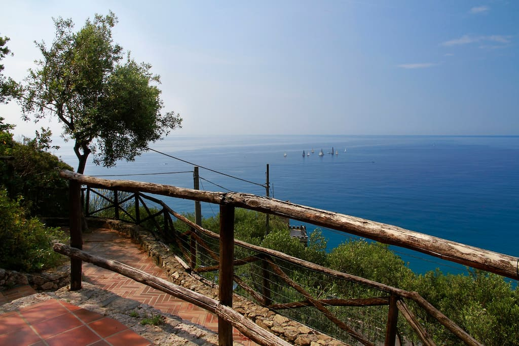 Sea-view from the lower terrace