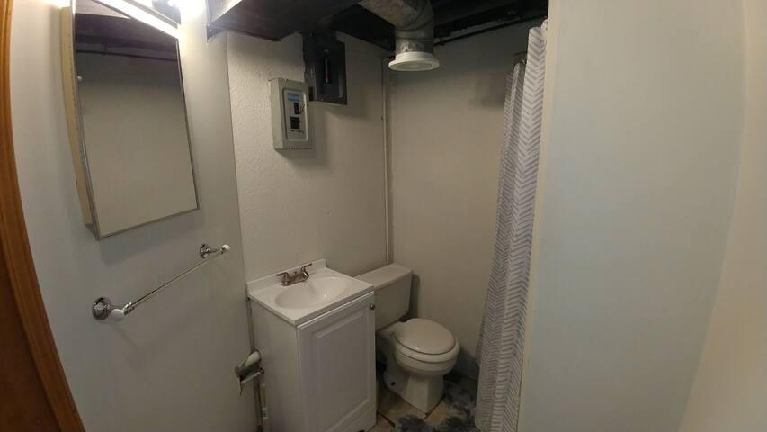Full bath in the basement