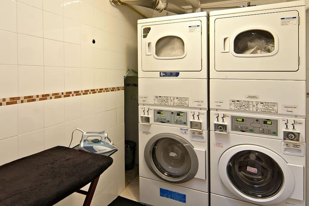 Communal self-service laundry