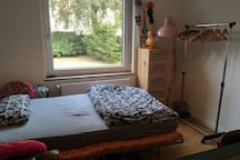 Bright, cozy room in creative flat