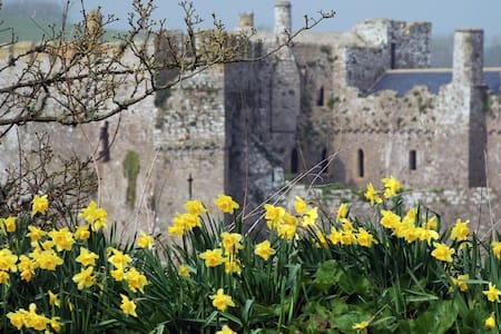 Manorbier Castle, by the beach - Manorbier