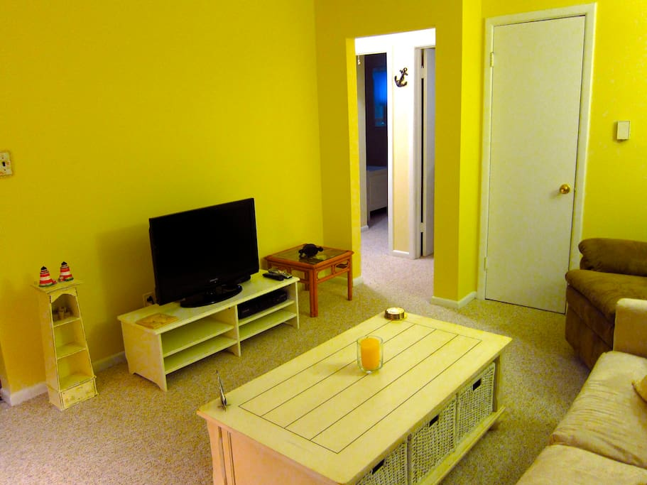 Another view of the living room- HD TV with BluRay DVD player!