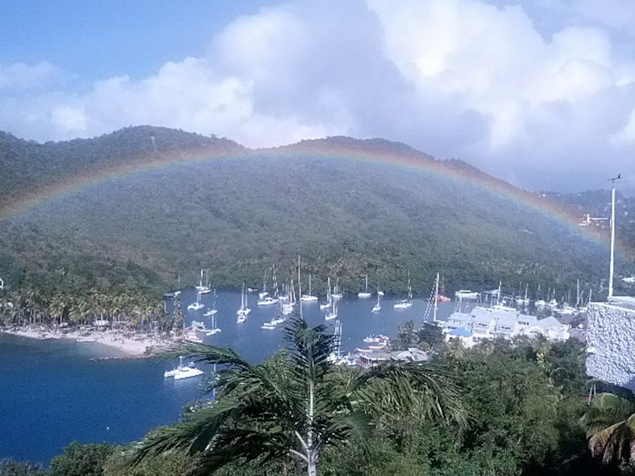 Rainbow over Marigot Bay