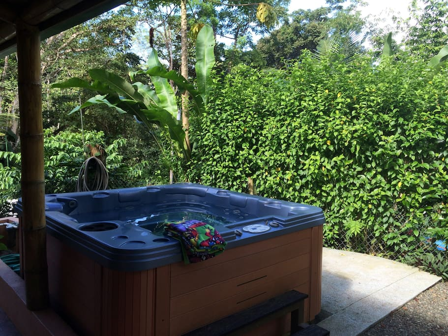 Private Jacuzzi to relax after a day of adventure!