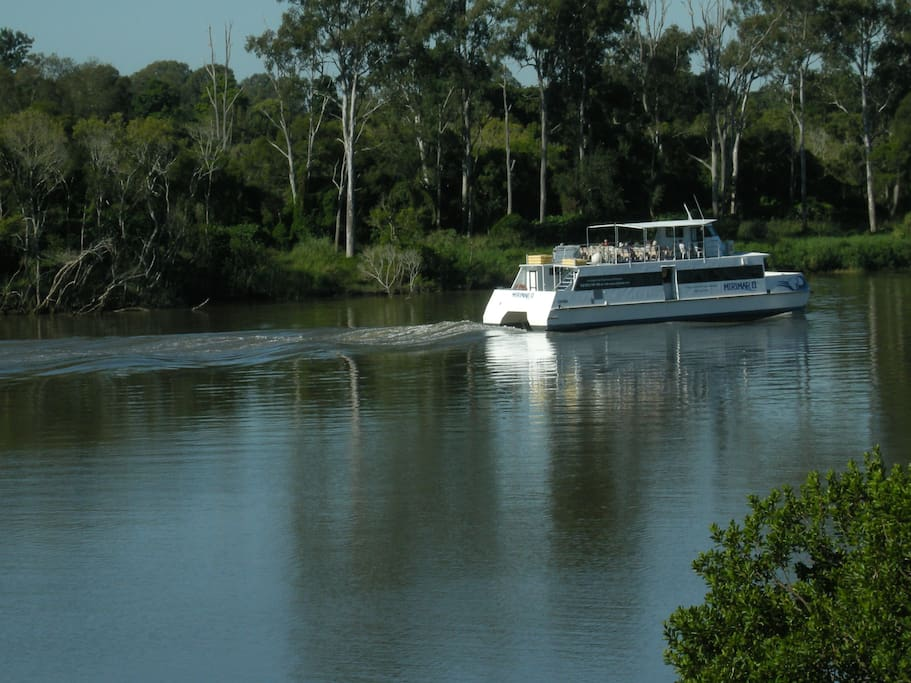 daily sighting of boat to Lone Pine Koala Sanctuary