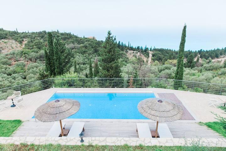 4 Villas with private pool in Drimonas, Lefkada