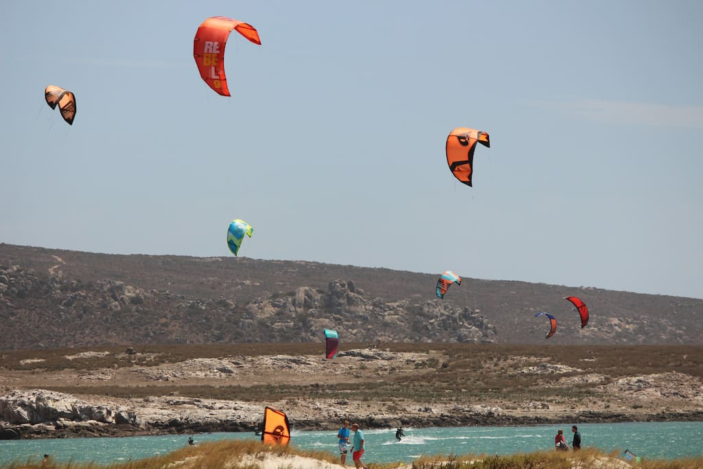 Kitesurfers - view from apartment