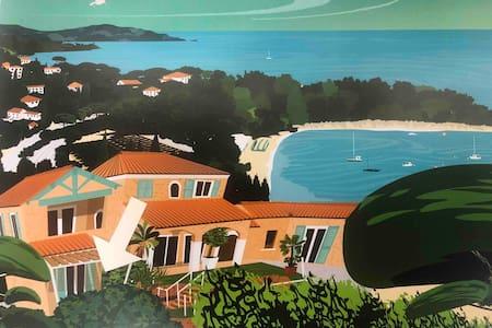 Vue sur les îles de Port Cros