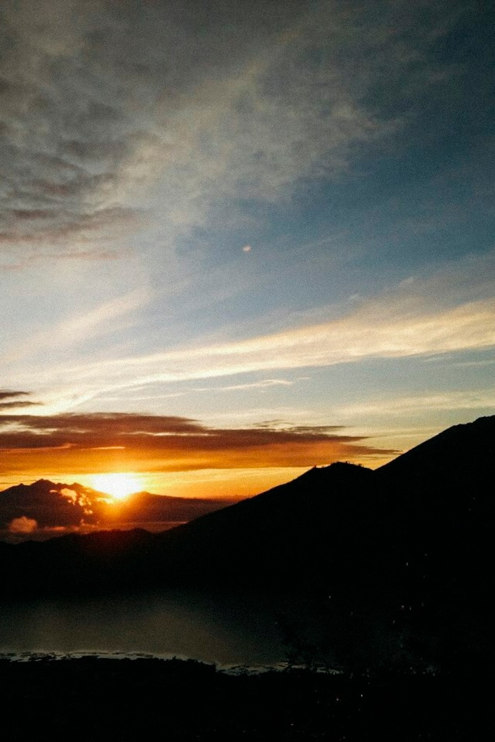 The sunrise look from top of Mt. Batur