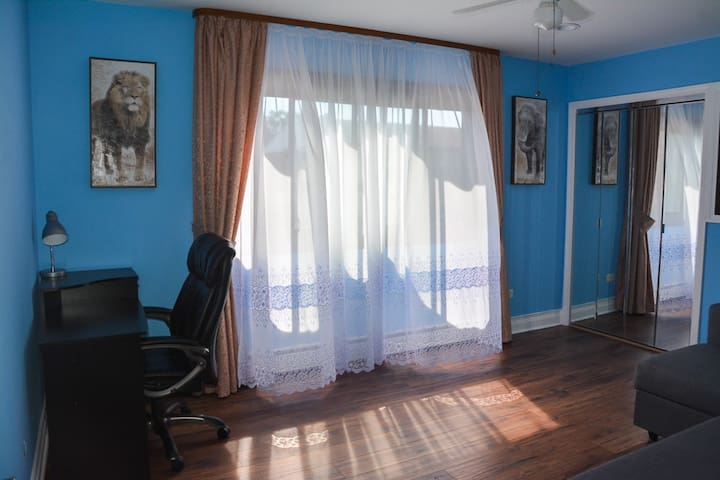 Cozy private room in Downtown Des Plaines ❤ - Des Plaines - Leilighet