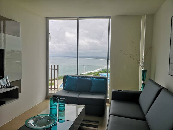 HERMOSO DEPARTAMENTO EN AYANGUE, VISTA AL MAR