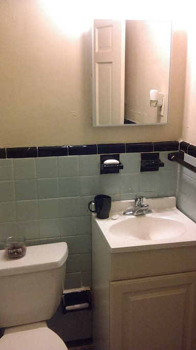 This bathroom will be exclusively for your use during your stay. It has a shower / tub and is just outside of the room.