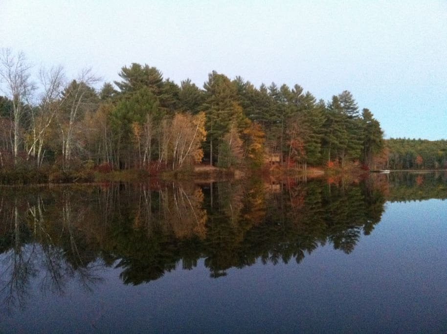 Fall is a beautiful time on the lake (view from the dock).