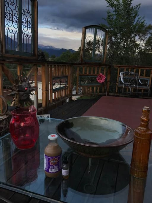 Mystic Portal morning july 15, 2017 View from hot tub deck:)