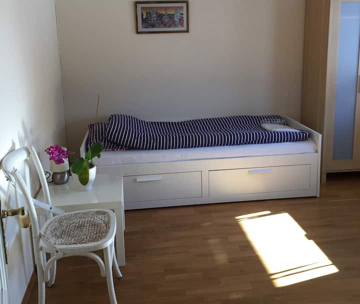 Room in fresh air 15 min from center of Oslo