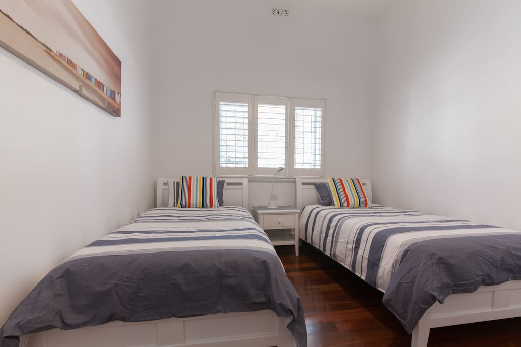 Second Bedroom with 2 King Single Beds